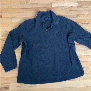 Grey quarter zip polo by Ralph Lauren sweater